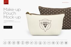 Make-up Pouch Mock-up by mesmeriseme.pro on @creativemarket