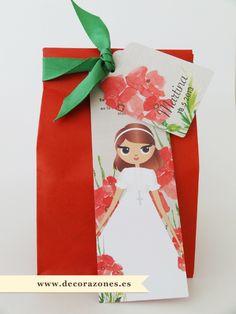 Marcalibros, etiqueta, cinta y bolsa de papel