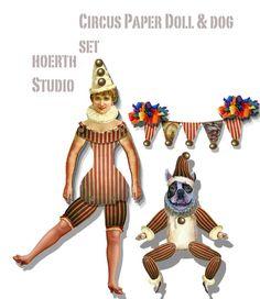 Vintage Circus Steampunk paper dolls by Raidersofthelostart, $4.00