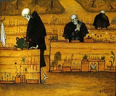 """Hugo Simberg """"Kuoleman puutarha""""."""