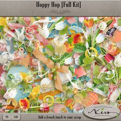 Hoppy Hop [Full kit] by Vero The French Touch available at The Studio.  #digitalscrapbookingstudio  #verothefrenchtouch