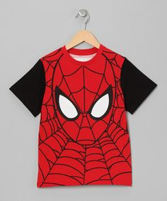 Take a look at this Red Spider-Man Face Tee - Toddler & Boys by Spiderman on #zulily today!