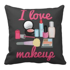 I Love Makeup Cosmetics Personalized Cushion Cover Sofa Decorative Throw Pillow Home Chair Car Seat capa de almofada Beauty Room Decor, Personalised Cushions, Glam Room, Makeup Rooms, Room Setup, Makeup Storage, Love Makeup, Diy Home, Home Decor