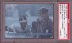 1994 Denny's Hologram  RICKEY HENDERSON PSA 8