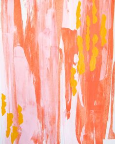 Tangerine Taffy Art Print by DashesOfHappiness on Etsy Nursery art. Wall art. Bright, pink, tangerine, abstract, girly.