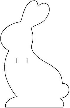 Cartão de Páscoa - Molde Coelho (Cortar o Molde no papel desejado e passa uma Fita nos vincos. Então é só escrever!)