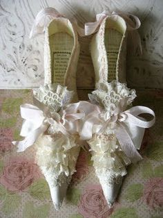 Cream Fairy Shoes by ScatteredScarlet on Etsy, $45.00