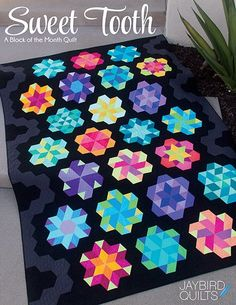 Sweet Tooth Block of the Month quilt sewing pattern book from Jaybird Quilts Circle Quilts, Hexagon Quilt, Quilt Blocks, Star Quilts, Sampler Quilts, Jaybird Quilts, Scrappy Quilts, Mini Quilts, Baby Quilts