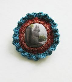 https://flic.kr/p/bsG2VZ | Teal and Rust Squirrel pin