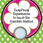 $ This packet contains seven easy (even for the scientifically challenged!)science experiments that can be used to teach the nature of science and th...