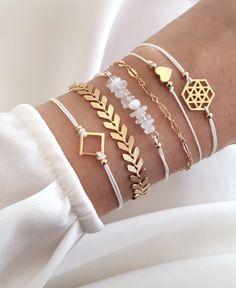 DIY Schmuck Incredibly great bracelet combination Jewelry in 2018 Cute Jewelry, Diy Jewelry, Beaded Jewelry, Jewelery, Jewelry Accessories, Fashion Accessories, Fashion Jewelry, Jewelry Making, Women Jewelry