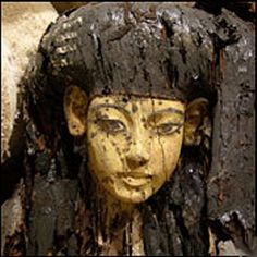 This is the mummy case of Princess Sitamun, daughter of Amunhotep III and Queen Tiye, and very probably the mother of King Tutankhamun.