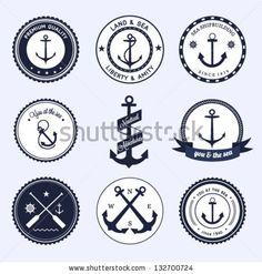 Nautical labels set by sRenee, via ShutterStock
