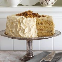 Maple Walnut Cake Recipe from Taste of Home -- shared by Lori Fee of Middlesex, New York