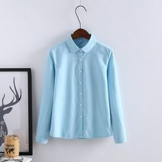 Women Spring Long Sleeve Tops Casual Chemise Femme Brief Women Ingot Collar Blouses Solid Shirt