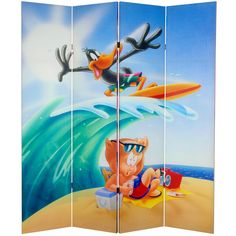 Daffy Duck Canvas Room Divider