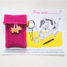 Handmade+in+Scotland+Harris+Tweed+Dog+Poo+Bag+Holder.   £12.95