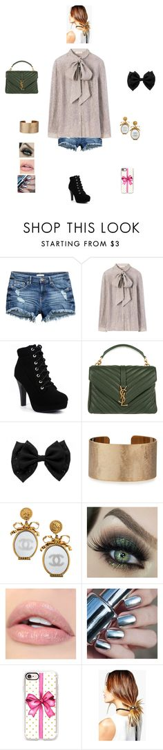 """K B M M L"" by queen-kaitlyn ❤ liked on Polyvore featuring Tory Burch, Yves Saint Laurent, Panacea, Chanel, Casetify and Boohoo"