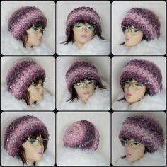 Купить Шапка вязаная женская, шапка женская вязаная зимняя, теплая шапка - брусничный, шапка