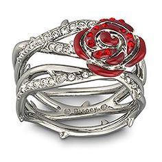 Swarovski/Disney Sleeping Beauty rose and thorn ring.