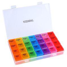 Medicine Storage Organizer Container Compartment 7 Day Pill Box Travel Case  | eBay