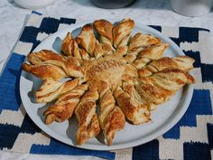 Apple Pie Twists : You can make this party-ready dessert with just five ingredients, including the welcome shortcut of store-bought puff pastry. Apple butter is smeared on the bottom layer of dough to deliver a sweet pielike filling.