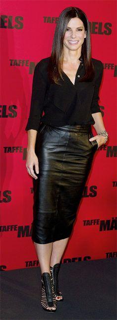 "Sandra Bullock in Tabitha Simmons' ""Strippy"""