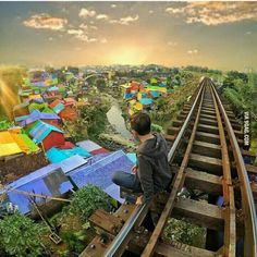 Come visit this place. Colourful village Malang City, Indonesia