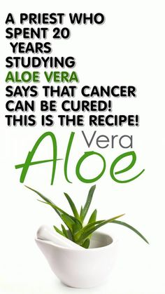 "Father Romano Zago from Brazil studied the Aloe Vera plant in period of 20 years and he came to discovery that this plant is natural cure for cancer. In his book ""Cancer Can Be Cured"" ha published …"
