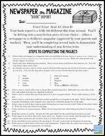 """Teaching With a Mountain View: Non-Fiction Newspaper or Magazine """"Book"""" Report"""
