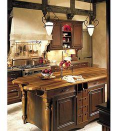 Tuscan kitchen, island