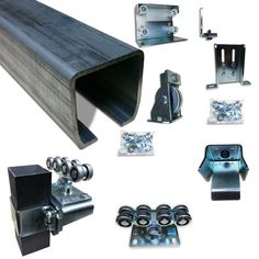 Slide Gate Truck Assembly cantilever gate conversion kit is a complete set of basic parts, hardware and accessories created to convert any gate or fencing panel into a smoothly sliding cantilever gate.