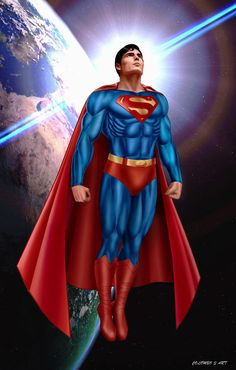 Maybe DA thought it features an unauthorized photo (headsh. Christopher Reeve as Superman Arte Do Superman, Superman Artwork, Supergirl Superman, Superman Logo, Superman Comic, Superman Man Of Steel, Superman Wonder Woman, Dc Comics Superheroes, Dc Comics Art