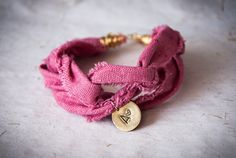 Braided bracelet with personalized pendants by SilviaWithLove