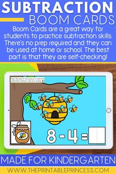 Are you working on the key math skill of subtraction? Help your students reach mastery with these engaging and hands-on subtraction activities and subtraction games for kindergarten. #subtractionactivities #iteachk #kindergartenteacher #kindergartenclassroom #mathfacts