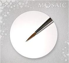 Mosaic Nail Art Brush Short Perfect brush for making small details with polish, gel and paints. Can be used as a dotting tool. Sable length Manufactured by: Mosaic Nail Systems Swirl Nail Art, Nail Store, Dotting Tool, Nail Art Brushes, Nail Supply, Nail Studio, Swirls, Gel Nails, Mosaic