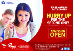 Admission Open!!! Hurry up to get admission for IATA classes. For details get in touch with Riya Institute.