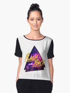 'Flash Back Neon Violett' Chiffontop von FejuLegacy Tees For Women, Chiffon Tops, Neon, Woman, Unique, Fashion, Sleeveless Tops, Cinch Bag, Women's T Shirts