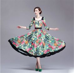 2013 autumn winter  Fancy  vintage elegant floral printed women's maxi dress lyq504 on sale $85.99