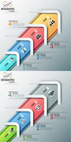 Modern Infographic Process Template (2 Colors) #design Download: http://graphicriver.net/item/modern-infographic-process-template-2-colors/8687997?ref=ksioks