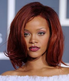Rihanna Mid-Length Bob  Rihanna's pretty bob had lots of volume and movement at the 53rd Annual Grammy Awards.