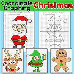 Math then graph activities christmas coordinate graphing pinterest