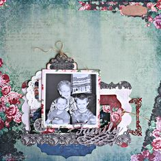 Family page featuring Love and Lace collection by BoBunny One Layout Three Ways #BoBunny @snapwhiz