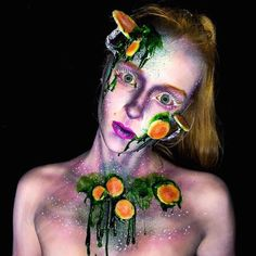 Lara Wirth produces body painting with effects so believable that they startle strangers with their realism.
