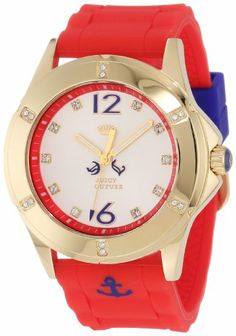 Juicy Couture Women's 1900999 Rich Girl Nautical Red Silicone Strap Watch Juicy Couture, WOMEN'S WATCHES if you wish to buy just CLICK on AMAZON right HERE http://www.amazon.com/dp/B0090VHD2I/ref=cm_sw_r_pi_dp_MBJQsb091PWQF92N