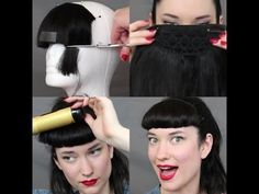 How to cut a Betty Bang with a Clip In Bang The Rachel Dixon Vintage Tut...