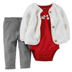 Your little girl will look adorable in this matching three-piece set. Featuring a soft jacket, a short sleeved bodysuit with a Scottie dog print, and no pinch elastic waistband leggings, she will stay comfortable and stylish all day long. Baby Outfits, Toddler Outfits, Kids Outfits, Carters Baby Girl, Baby Girl Newborn, Baby Girls, Infant Girls, Baby Set