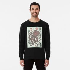 Royal Octopus Treasure Brown by kenallouis | Redbubble Pink Smoke, Pullover, Yellow And Brown, Blue, Cross Stitch Designs, Chiffon Tops, Sleeveless Tops, Vintage Inspired, Classic T Shirts