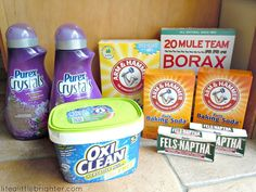Thrifty DIY laundry detergent // Life a Little Brighter
