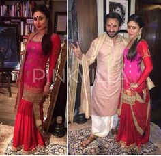 Kareena Kapoor khan n Saif in Sabyasachi